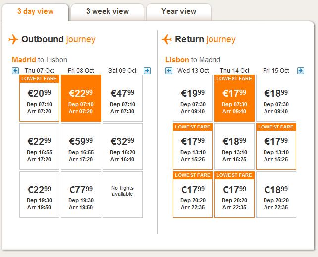 Евтини самолетни билети до Лисабон