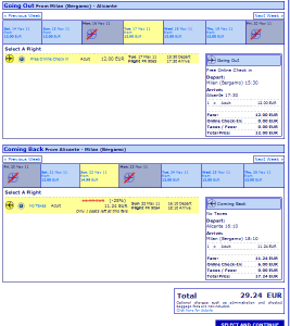 Евтини самолетни билети до Аликанте