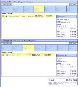 Евтини самолетни билети до Сарагоса
