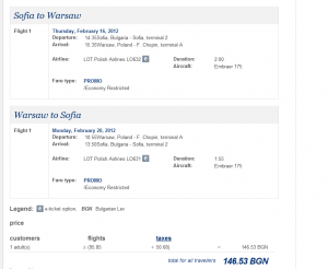 Евтини самолетни билети до Варшава