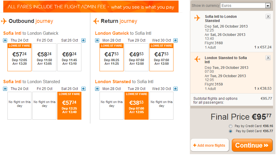 sofia-london-easyjet-weekend